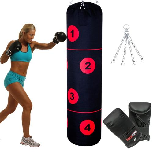Zooboo 100cm Empty Punching Bag with Chain Martial Art
