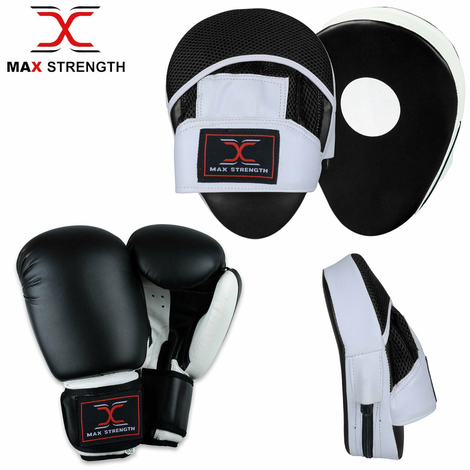 Pair Curved Focus Pads,Hook and Jab Mitts,Boxing Speed Target Punch Pads