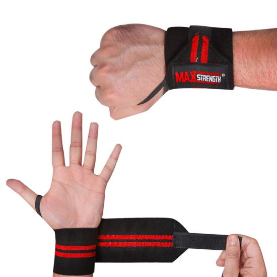 G231 Weight Training Straps Red & Black