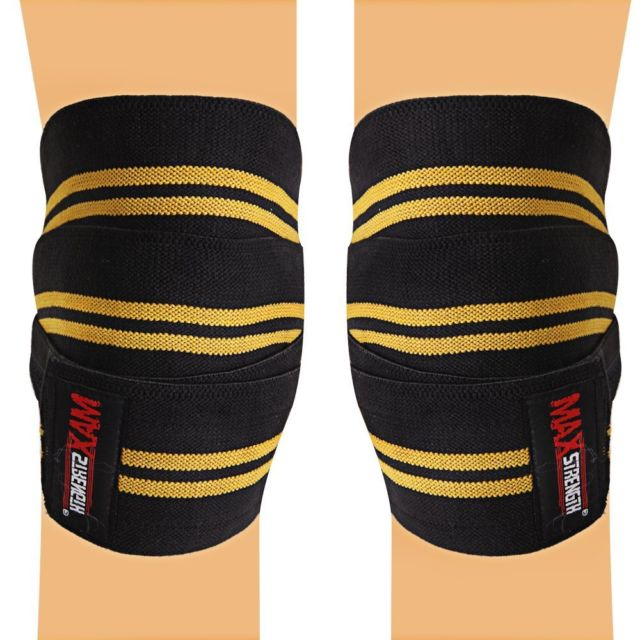 Knee Wraps Weight Lifting Knee Support Maxstrength Net